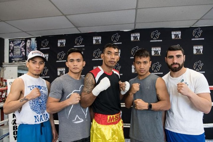 """Jorge Linares - PABA Welterweight Champion Tewa Kiram (38-0. 28 KOs) and lightweight contender Mercito """"No Mercy"""" Gesta (31-1-2, 17 KOs) hosted a media workout today at Westside Boxing Club in Los Angeles, Calif. ahead of their respective world championship bouts. Kiram will take on former interim WBC Super Lightweight Champion Lucas """"La Maquina"""" Matthysse (38-4, 35 KOs) in a 12-round fight for the vacant WBA Welterweight World Title, while Gesta will take on WBA, WBC Diamond and Ring Magazine World Champion Jorge """"El Nino De Oro"""" Linares (43-3, 27 KOs) in a 12-round battle. The action takes place on Saturday, Jan. 27 in a special double main event at the """"Fabulous"""" Forum in Inglewood, Calif. The doubleheader will be televised live on HBO Boxing After Dark®beginning at 10:30 p.m. ET/PT."""