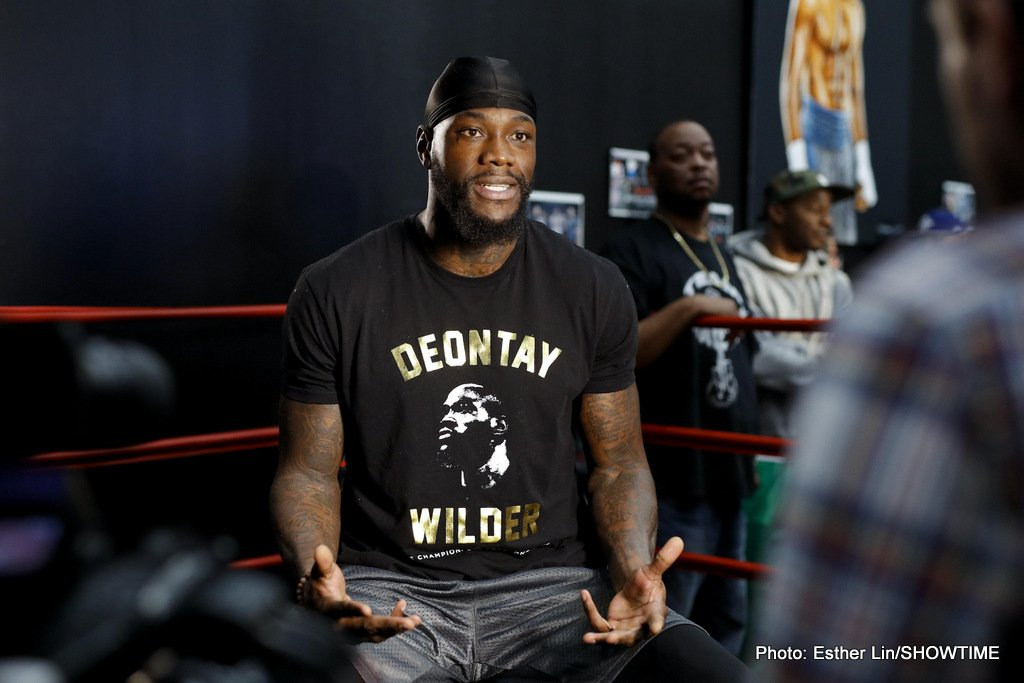 """Deontay Wilder offered take-it-or-leave-it sum of £8.8 million for Anthony Joshua fight; will respond """"in 48 hours"""""""