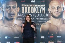 "Daniel Jacobs, Jarrell ""Big Baby"" Miller, Maciej Sulecki - Matchroom Boxing USA held a press conference today in New York City to formally announce a sensational HBO World Championship Boxing double-header on Saturday, April 28, at Barclays Center in Brooklyn, NY beginning at 10:00 p.m. ET/PT."