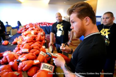 "Gennady Golovkin, Saul ""Canelo"" Alvarez - Lineal and Ring Magazine Middleweight World Champion Canelo Alvarez (49-1-2, 34 KOs) and WBC/WBA/IBF/IBO Middleweight World Champion Gennady ""GGG"" Golovkin (37-0-1, 33 KOs) hosted a blockbuster fan event today at Microsoft Square at L.A. LIVE to formally announce their historic, highly anticipated 12-round rematch at T-Mobile Arena on Cinco de Mayo and presented live by HBO Pay-Per-View beginning at a special time of 8:00 p.m. ET/5:00 p.m. PT."