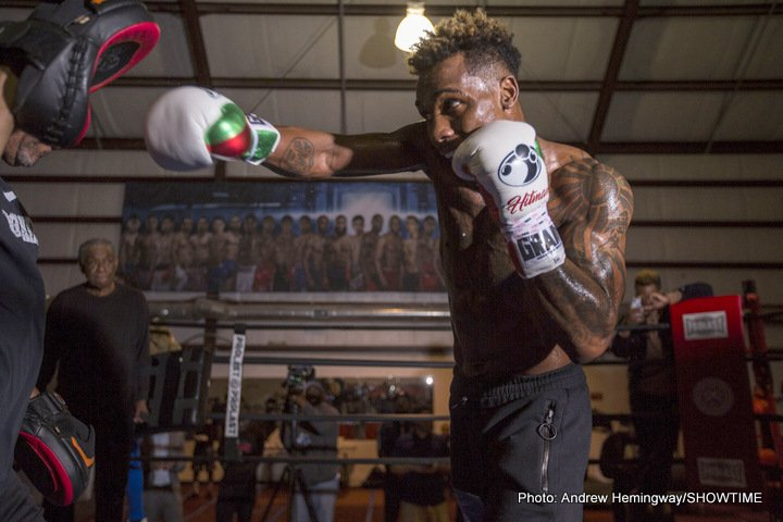 Hugo Centeno Jr, Jermall Charlo - Unbeaten former 154-pound world champion Jermall Charlo hosted a media workout Thursday in his hometown of Houston as he prepares for his WBC Interim Middleweight World Title showdown against Hugo Centeno Jr. Saturday, March 3 from Barclays Center, the home of BROOKLYN BOXING™.
