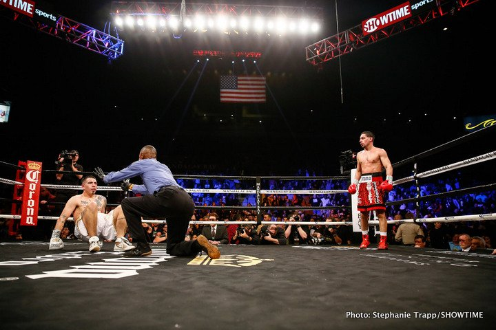 Brandon Rios - Former two-division world champion Danny Garcia returned with a vengeance, knocking out Brandon Rios in a WBC Welterweight Title Eliminator in the main event of SHOWTIME CHAMPIONSHIP BOXING Saturday on SHOWTIME from Mandalay Bay Events Center in Las Vegas.