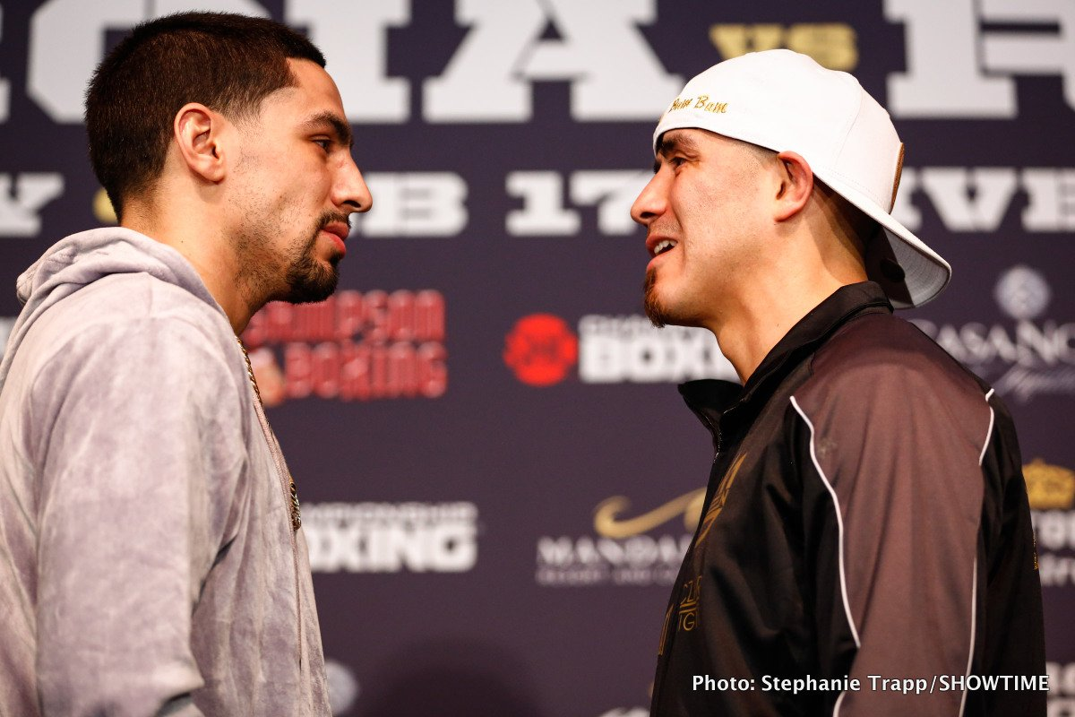 Brandon Rios, Danny Garcia, David Benavidez, Ronald Gavril - Two-division world champion Danny Garcia and former world champion Brandon Rios faced off Thursday at the final press conference for their WBC Welterweight World Title Eliminator this Saturday, February 17live on SHOWTIME from Mandalay Bay Events Center, and presented by Premier Boxing Champions.