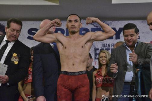 Juan Francisco Estrada, Srisaket Sor Rungvisai - Weigh-In Results: