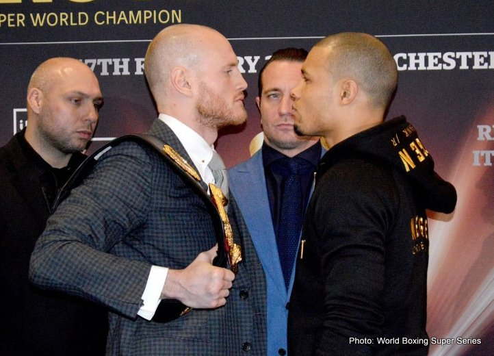 WBA Super Champion George Groves (27-3, 20 KOs) and IBO World Champion Chris Eubank Jr. (26-1, 20 KOs) exchanged words for at last time before their Ali Trophy semi-final clash on Saturday at the Manchester Arena.
