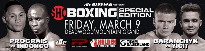 Julius Indongo - A stellar off-TV three-fight undercard has been added to this Friday's SHOWTIME BOXING: SPECIAL EDITION live on SHOWTIME at 10 p.m. ET/PT from Deadwood Mountain Grand in Deadwood, S.D., and presented by DiBella Entertainment.