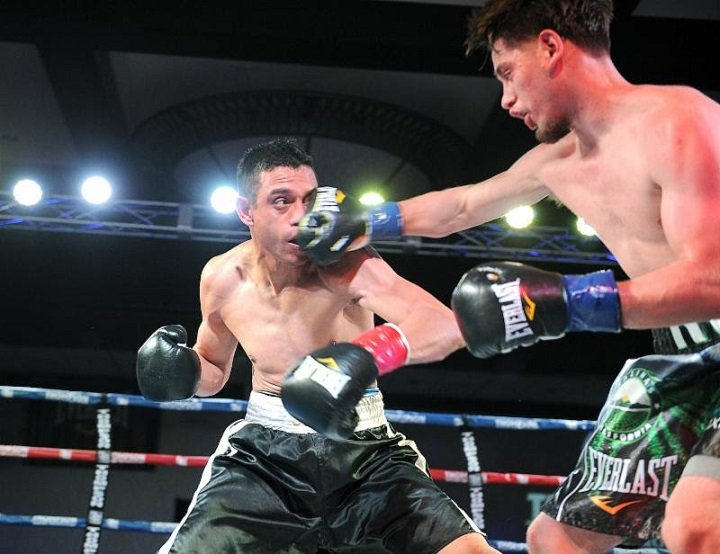 Ruben Villa - Heralded prospect Ruben Villa (10-0, 4 KOs) of Salinas, Calif. made it ten straight wins to start his career by outpointing veteran Juan Sandoval (15-18, 5 KOs) of Mexico. Scores: 59-55, 60-54 twice.