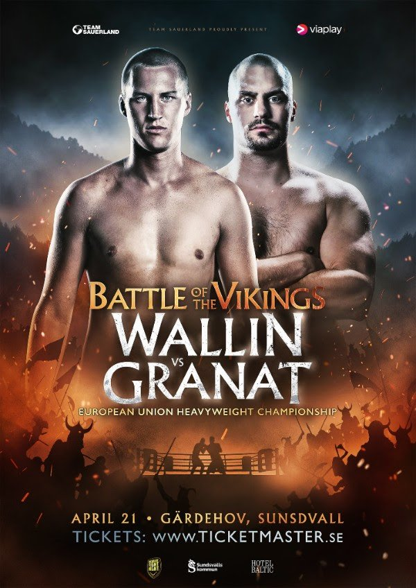 Adrian Granat, Otto Wallin - Swedish boxing expert Olof Johansson expects 'history to be written' on Saturday in Sundsvall as heavyweight rivals Otto Wallin (19-0, 13 KOs) and Adrian Granat (15-1, 14 KOs) go toe-to-toe for the European Union title at the Gärdehov Ice Hockey Arena.
