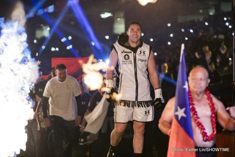 Anthony Joshua Joseph Parker Boxing News Boxing Results
