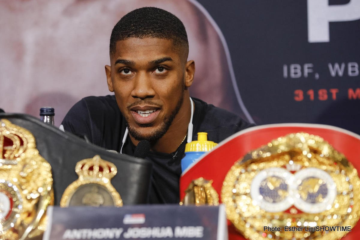 Anthony Joshua - This one can be filed under the opportunistic column. Heavyweight champ Anthony Joshua received an attempted delivery note at his home yesterday and the WBA/IBF/WBO ruler called up the delivery firm so as to locate his package. It turns out the guy on the other end of the phone, clearly a boxing fan, twigged who he was speaking with and recorded his brief chat with the British superstar – and then put it up on You Tube.