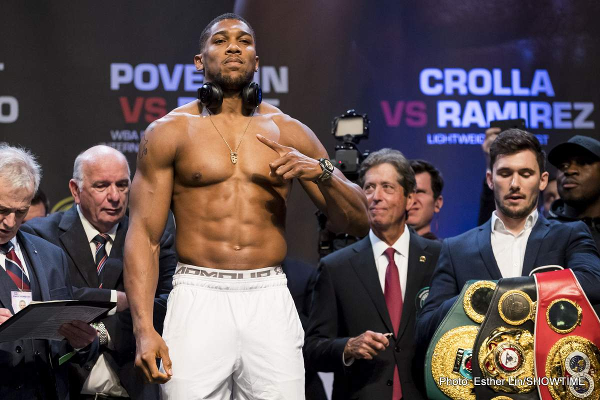 Anthony Joshua Vs. Alexander Povetkin could be next as WBA enforce mandatory