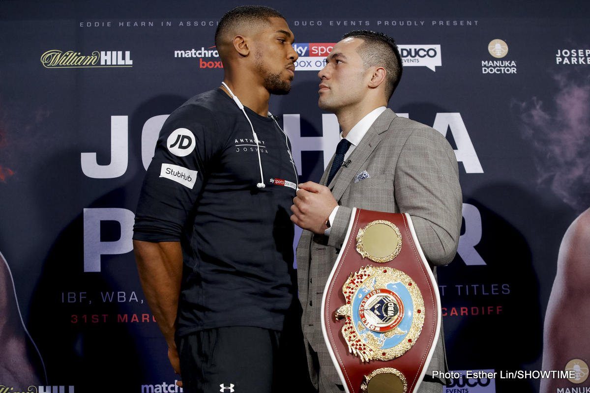 Anthony Joshua Joseph Parker Boxing News