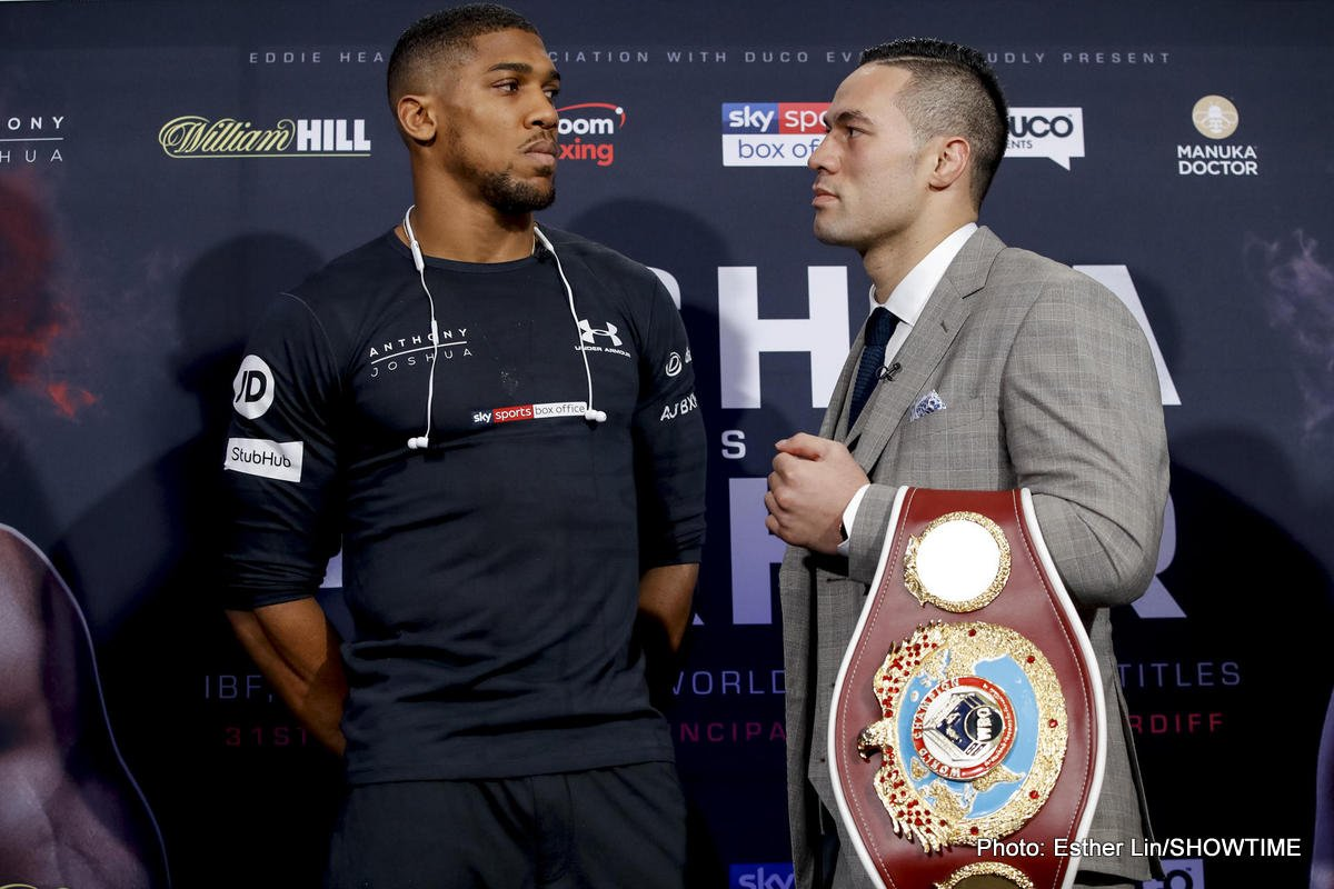 Anthony Joshua Joseph Parker Boxing News Top Stories Boxing