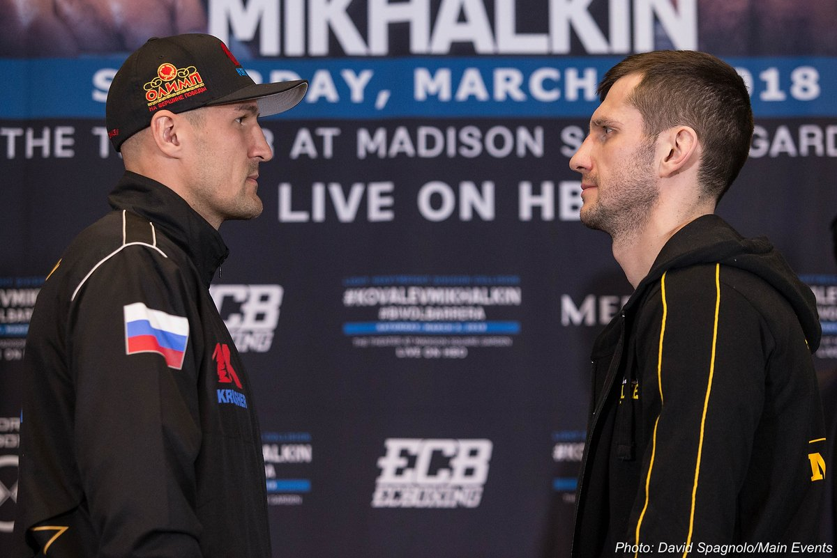Sergey Kovalev vs. Igor Mikhalkin & Dmitry Bivol vs. Sullivan Barrera Final Press Conference Quotes