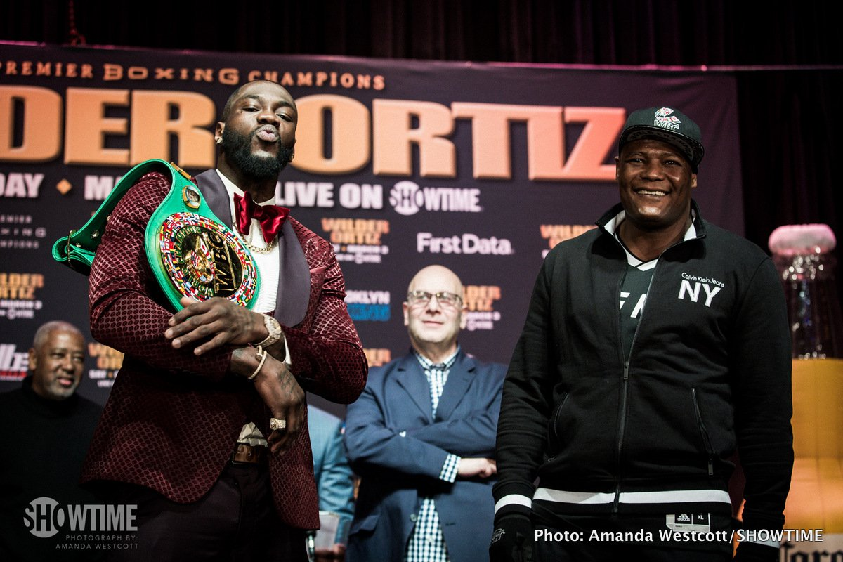 Andre Dirrell - Unbeaten WBC Heavyweight World Champion Deontay Wilder and unbeaten contender Luis Ortiz exchanged words and went face to face at the final press conference in Manhattan Thursday ahead of their main event showdown this Saturday, March 3 live on SHOWTIME from Barclays Center, the home of BROOKLYN BOXING™, and presented by Premier Boxing Champions.