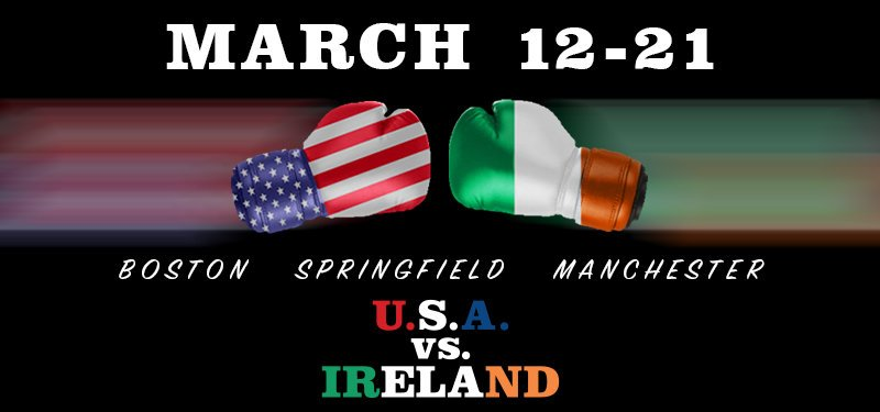 Boxing: Team United States Defeats Team Ireland 8 to 4