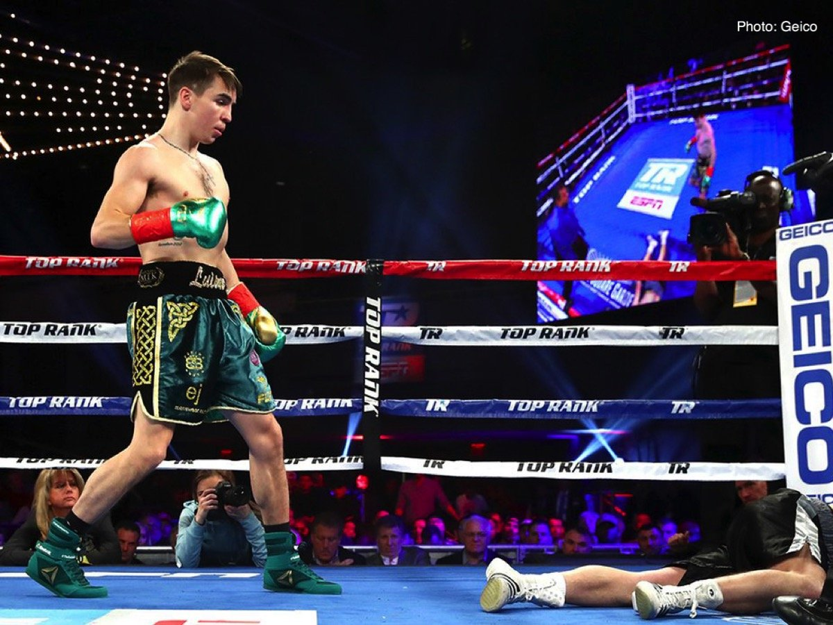 Michael Conlan - Michael Conlan continued his rise with a clinical second-round stoppage of former European title challenger David Berna at a raucous Madison Square Garden.