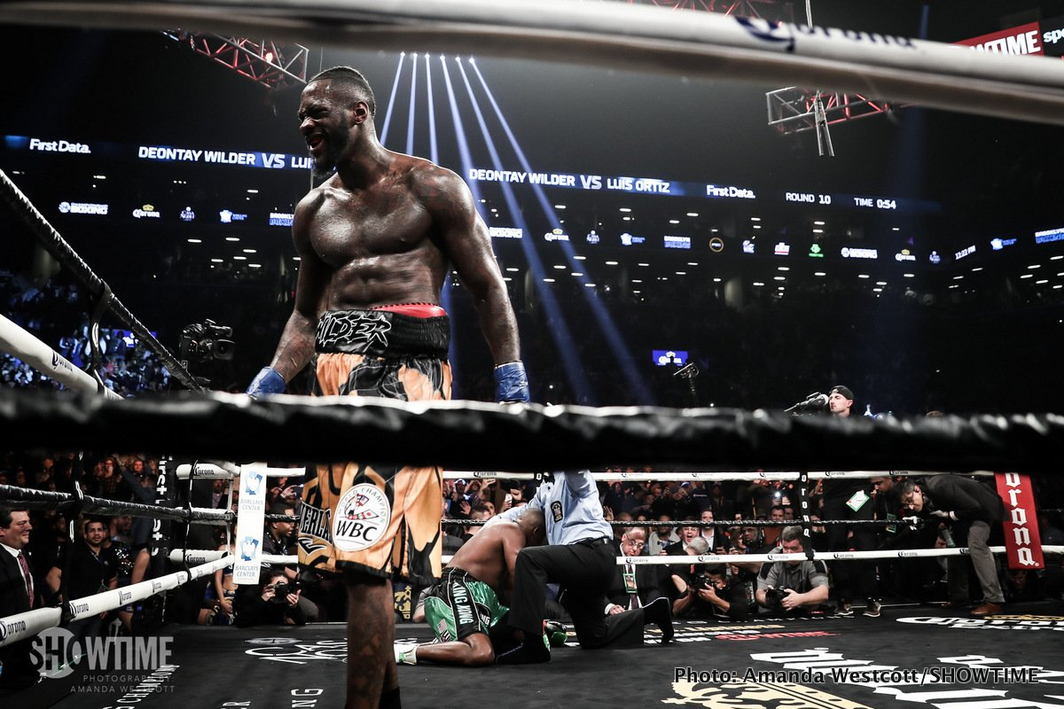 Wilder KO10 Ortiz – in coming through the toughest fight of his career, Wilder proves he is THE man at heavyweight