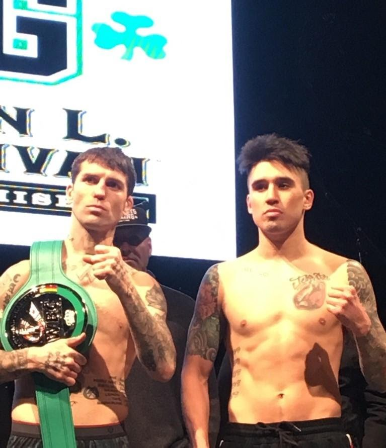 """Steve Claggett - The official weigh in for tomorrow night's """"St. Patrick's Day Clash 3"""" was held today at the House of Blues in Boston."""