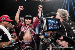 Kiryl Relikh, Mikey Garcia, Rances Barthelemy, Sergey Lipinets - Mikey Garcia captured a world title in his fourth weight division, outpointing previously undefeated Sergey Lipinets to win the IBF Junior Welterweight World Championship Saturday on SHOWTIME from Freeman Coliseum in San Antonio.