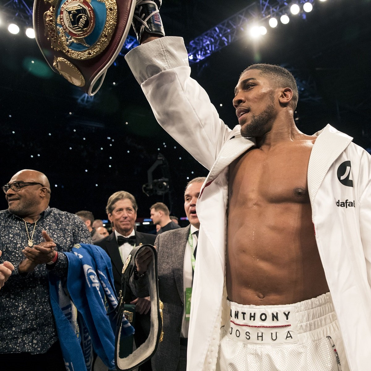 Muhammad Ali - Like many fighters before him, Anthony Joshua is a huge fight fan (it seems obvious a successful fighter would be a fan of his chosen sport but there are exceptions: Jermain Taylor for example, who said as champ that he is no boxing fan) - and AJ is also a student of the history of boxing.