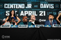Adrien Broner, Gervonta Davis, Jermall Charlo, Jessie Vargas, Jesus Cuellar - Fighters competing on Saturday's SHOWTIME CHAMPIONSHIP BOXING tripleheader, headlined by four-division champion Adrien Broner battling two-division champion Jessie Vargas, went face-to-face Thursday at a press conference in Brooklyn before they enter the ring this Saturday, April 21 at Barclays Center, the home of BROOKLYN BOXING™, in an event presented by Premier Boxing Champions.