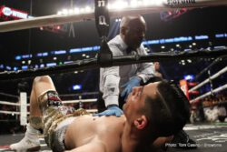 Adrien Broner, Gervonta Davis, Hugo Centeno Jr, Jermall Charlo, Jessie Vargas - Four-division world champion Adrien Broner and two-division world champion Jessie Vargas fought to a highly entertaining 12-round majority draw Saturday night on SHOWTIME in the main event of SHOWTIME CHAMPIONSHIP BOXING in front of 13,964 fans at Barclays Center in Brooklyn in an event presented by Premier Boxing Champions.