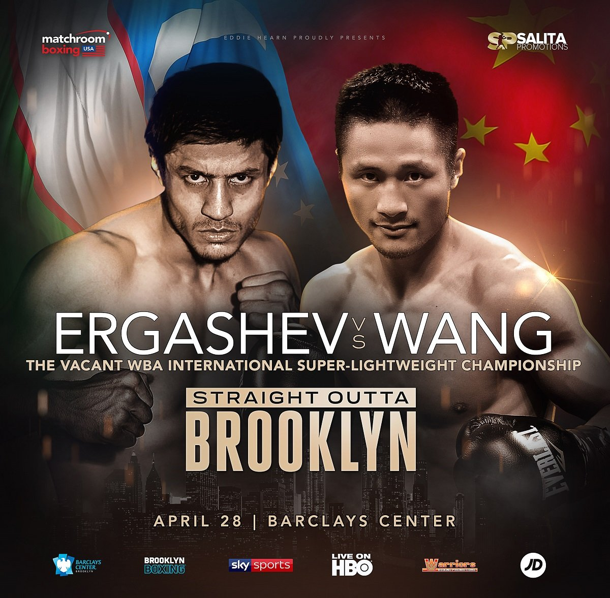 Shohjahon Ergashev fights Zhimin Wang on 4/28