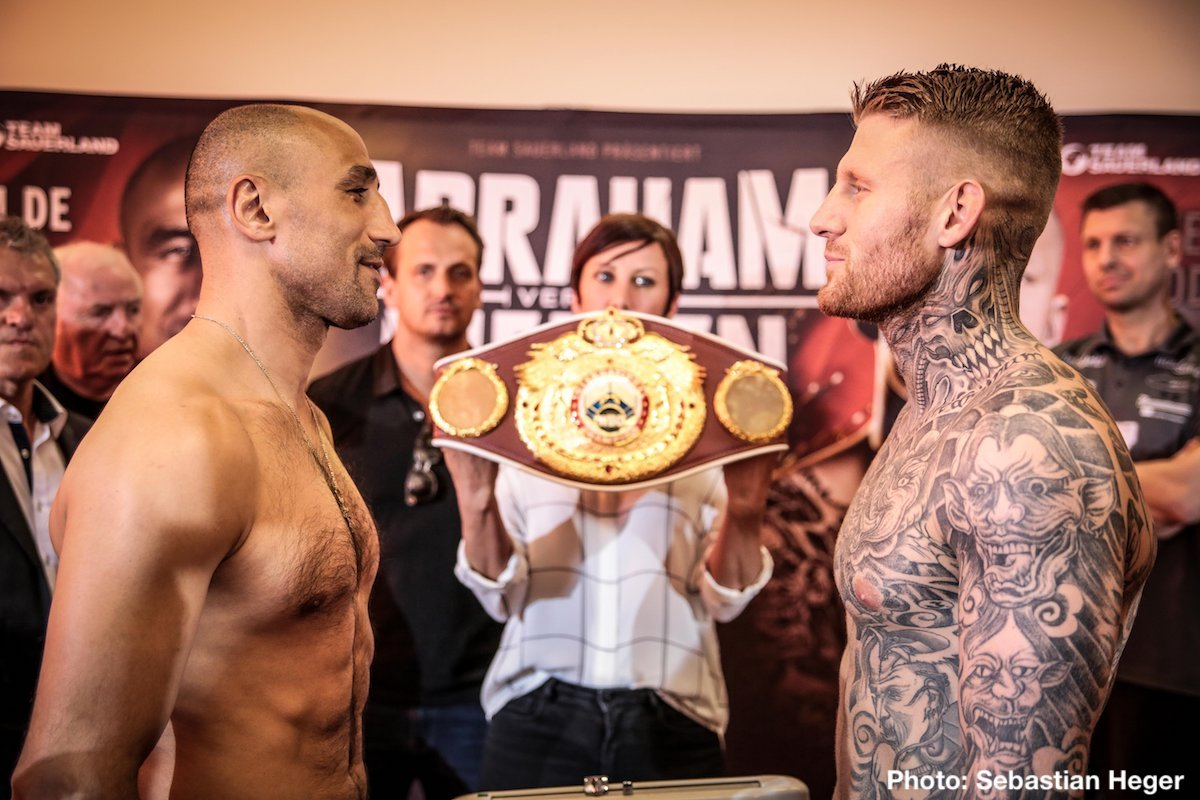 Patrick Nielsen - Arthur Abraham (46-6, 30 KOs) and Patrick Nielsen (29-2, 14 KOs) both made weight today ahead of their crunch super middleweight clash for the WBO International title tomorrow night at the Baden Arena in Offenburg, Germany.