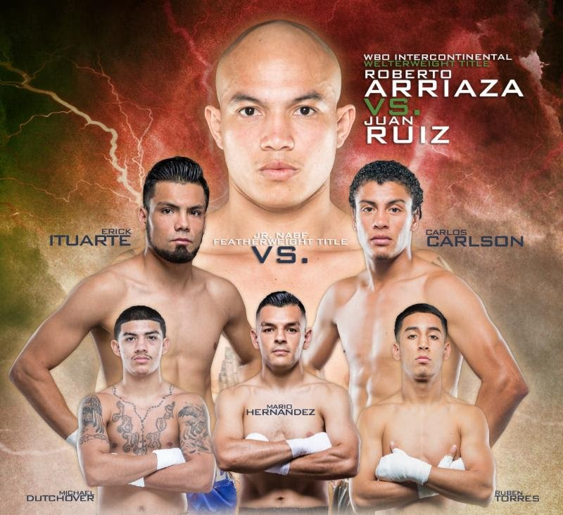 Roberto Arriaza vs. Juan Ruiz on May 11