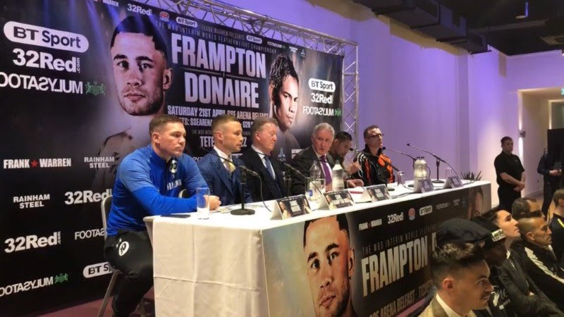 Carl Frampton Nonito Donaire British Boxing Press Room