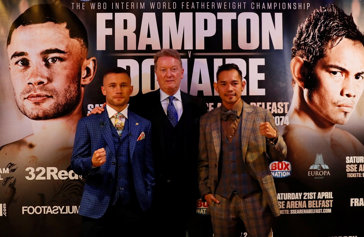 Frampton vs Donaire live on Boxnation – Saturday