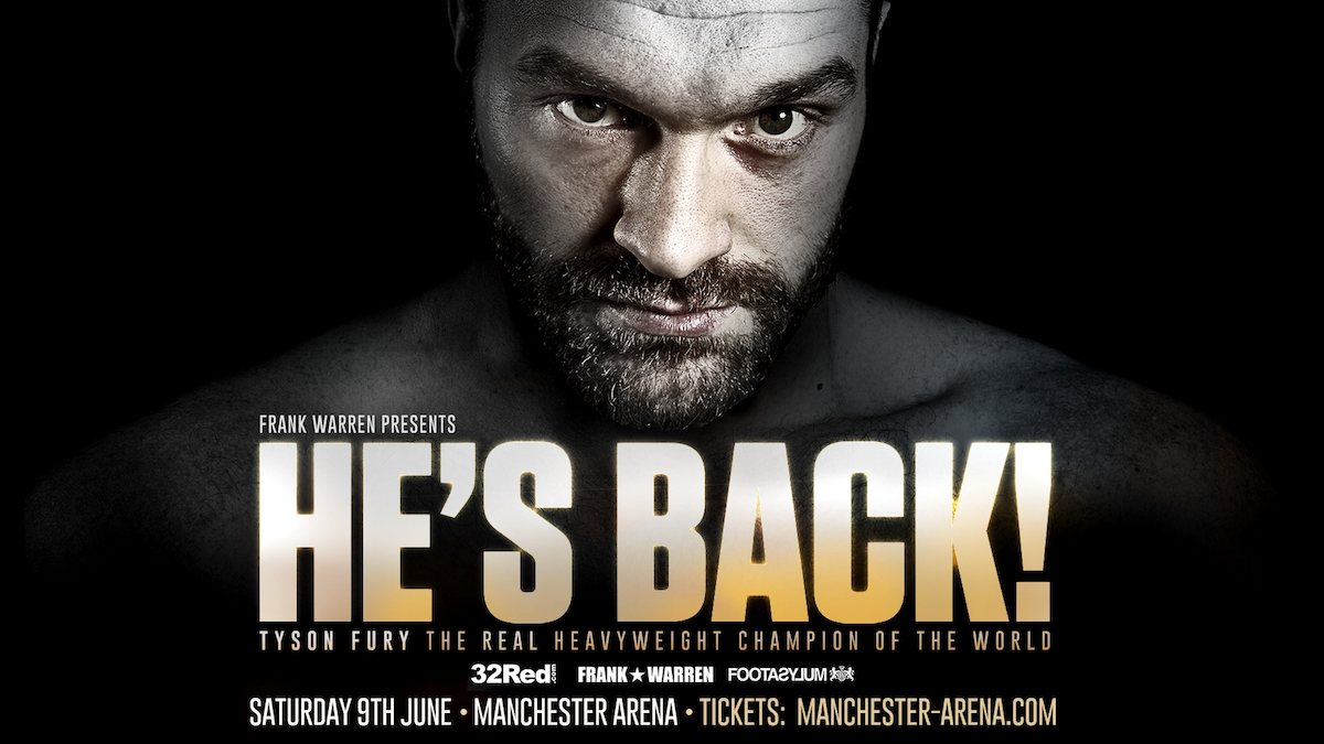 Tyson Fury - Frank Warren has partnered with the BBC for exclusive radio rights to Tyson Fury's highly-anticpated comeback fight against Sefer Seferi at the Manchester Arena on June 9.