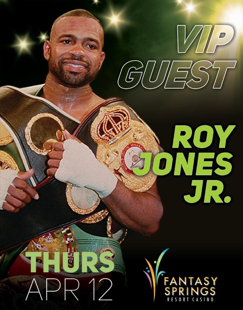 """Former pound-for-pound king and future Hall of Famer Roy Jones, Jr. will be the special VIP guest for the April 12 edition of Golden Boy Boxing on ESPN at Fantasy Springs Resort Casino in Indio, Calif. The main event will feature two-time Fight of the Year winner and former WBC Super Featherweight World Champion Francisco """"El Bandido"""" Vargas (24-1-2, 17 KOs) in a 10-round super featherweight fight against """"Lightning"""" Rod Salka (24-4, 4 KOs)."""