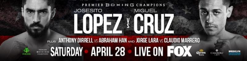 Robert Guerrero - Today, FOX Sports announces former multiple-division world champion Robert Guerrero joins blow-by-blow announcer Sean Grande to call PREMIER BOXING CHAMPIONS: LOPEZ VS. CRUZ live on FOX Saturday, April 28 (8:30 PM ET), from the Don Haskins Center in El Paso, Texas. Jordan Hardy serves as ringside reporter, while Ray Flores handles ring announcing. On FOX Deportes, Jaime Motta joins blow-by-blow announcer Jesse Losada to call the action in Spanish.
