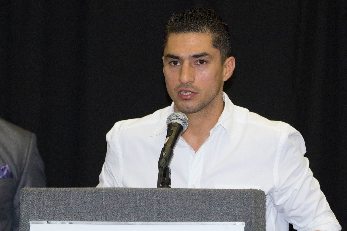"""Josesito """"Riverside Rocky"""" Lopez - Fighters competing on an exciting night of Premier Boxing Champions on FOX and FOX Deportes hosted a press conference in El Paso, Texas Wednesday ahead of their respective showdowns on Saturday, April 28 from the Don Haskins Center in El Paso."""