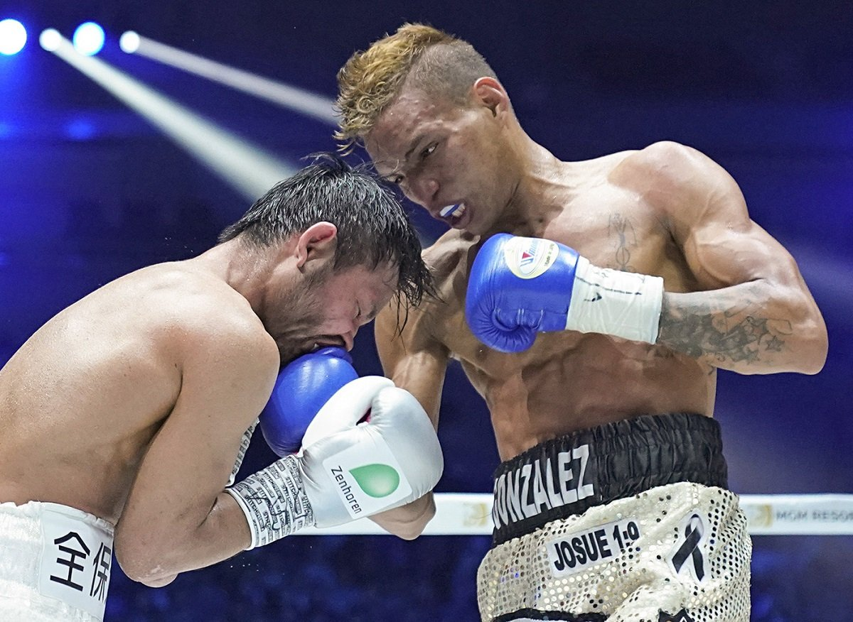 Cristofer Rosales - Cristofer Rosales (27-3, 18 KOs) used his size advantage to stop a depleted looking previously unbeaten Daiga (Higa (15-1, 15 KOs) by a 9th round stoppage on Sunday night to win the vacant WBC flyweight title at the Arena Yokohama, in Yokohama, Japan.