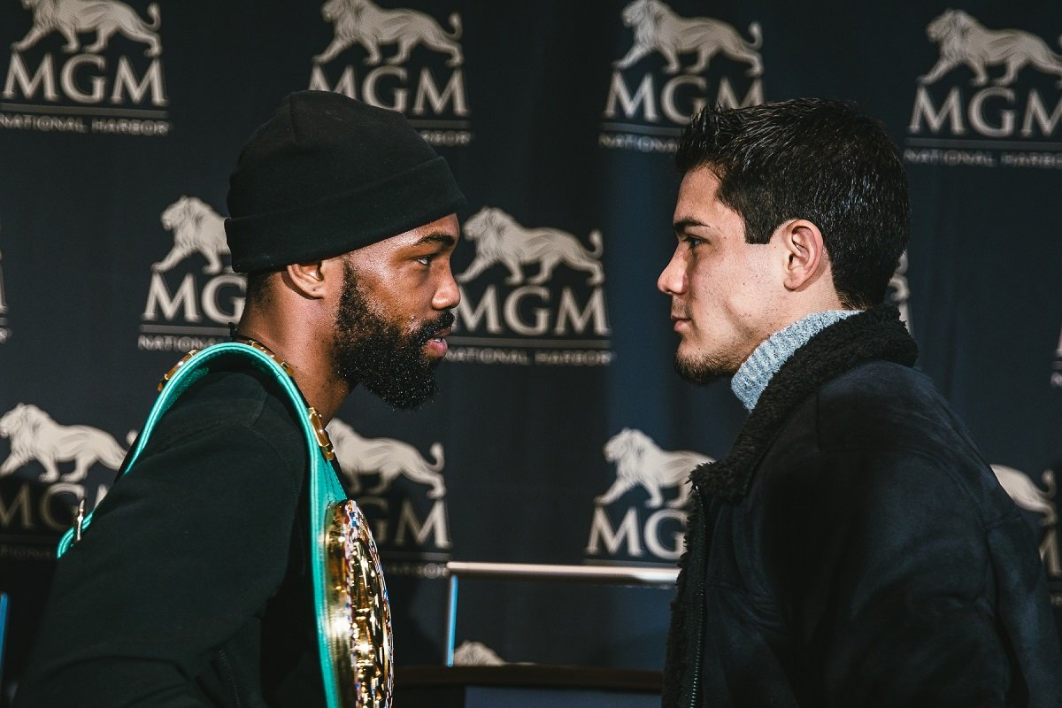 "Gary Russell Jr., Joseph ""Jojo"" Diaz Jr. - WBC Featherweight World Champion Gary Russell Jr. (28-1, 17 KOs) and unbeaten No. 1 contender Joseph ""JoJo"" Diaz Jr. (26-0, 14 KOs) hosted a press conference and faced off for the first time Tuesday before their championship showdown Saturday, May 19 live on SHOWTIME from MGM National Harbor in Maryland."