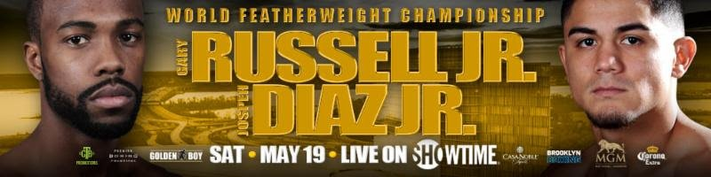 "Joseph ""Jojo"" Diaz Jr. - Two exciting main events will be presented on the same night, Saturday, May 19 live on SHOWTIME as part of a split-site doubleheader telecast."