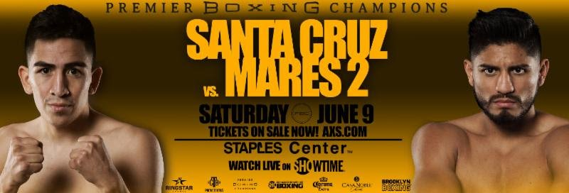 Leo Santa Cruz battles Abner Mares on June 9 on Showtime