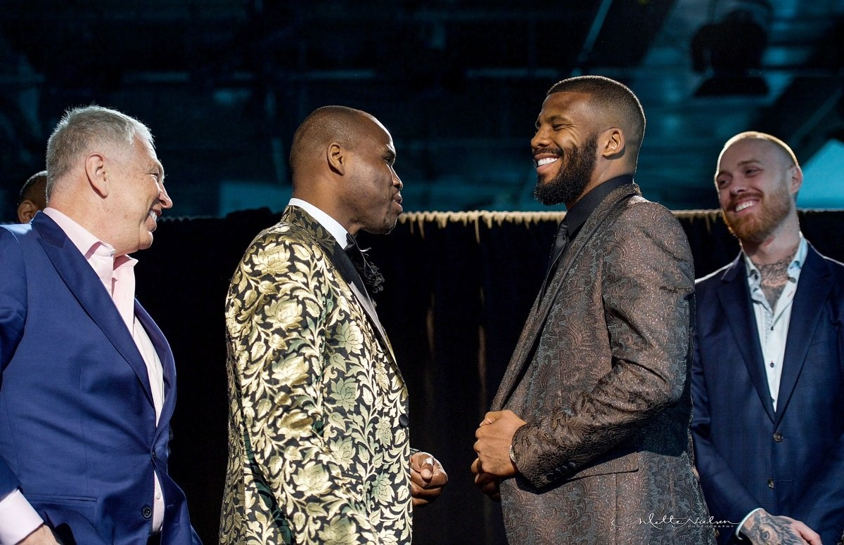Adonis Stevenson - WHAT: WBC Light Heavyweight World Champion Adonis Stevenson and former two-division world champion Badou Jack faced off in Toronto on Tuesday to formally announce their highly anticipated showdown Saturday, May 19 live on SHOWTIME from Air Canada Centre in Toronto.