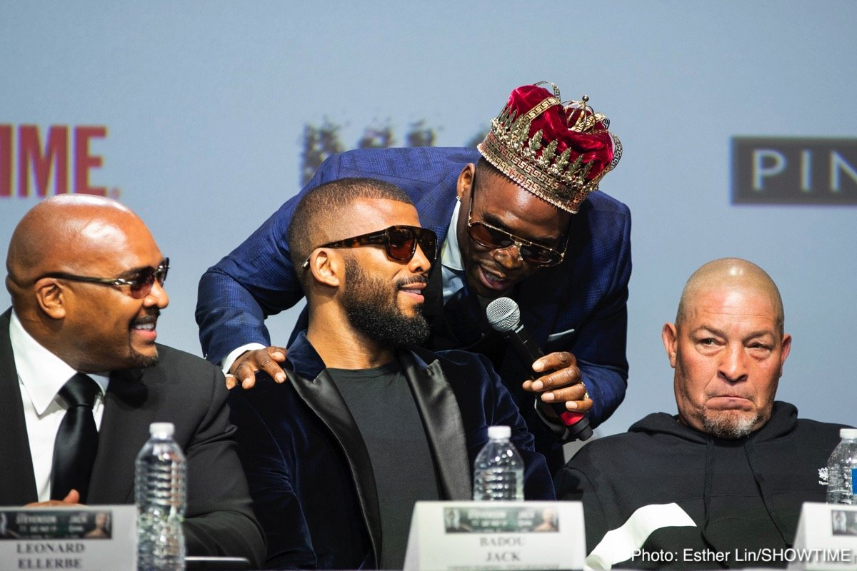 Adonis Stevenson, Badou Jack -  Adonis Stevenson and Badou Jack both predicted they would win the WBC Light Heavyweight World Championship by knockout as they were joined by all-time great Floyd Mayweather during the final press conference on Thursday.