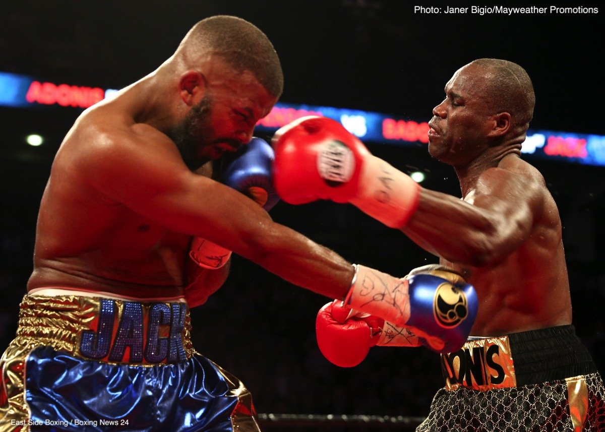 Badou Jack - Adonis Stevenson (29-1-1, 24 KOs) had to literally hold on to keep from getting knocked out in the 12th round by former 2 division world champion Badou Jack (22-1-3, 13 KOs) in fighting to a 12 round majority draw at the Air Canada Centre in Toronto, Canada.