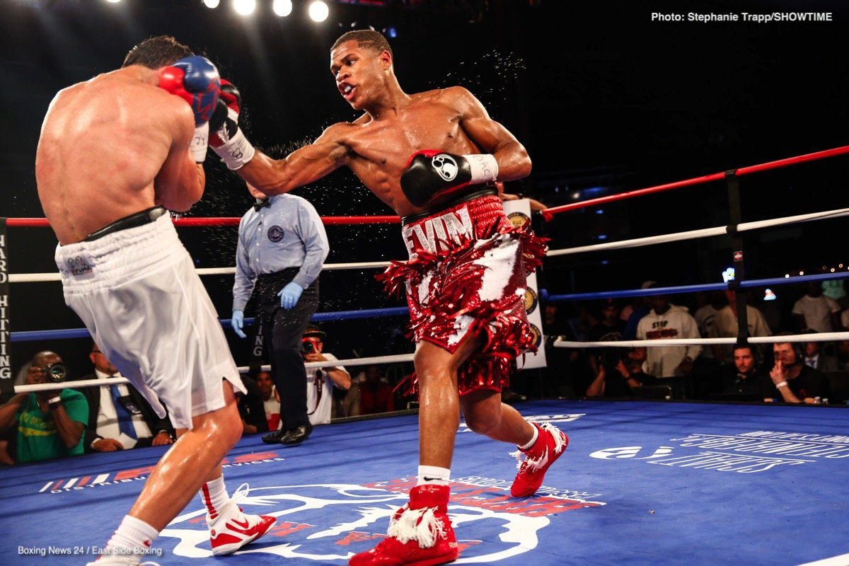 Devin Haney, Juan Carlos Burgos - Top undefeated lightweight prospect Devin Haney and his father, manager and trainer Bill Haney Sr. met with members of the Las Vegas media on Thursday as Haney continues preparations for his Friday, Sept. 28 showdown against three-time world title challenger Juan Carlos Burgos on ShoBox: The New Generation.