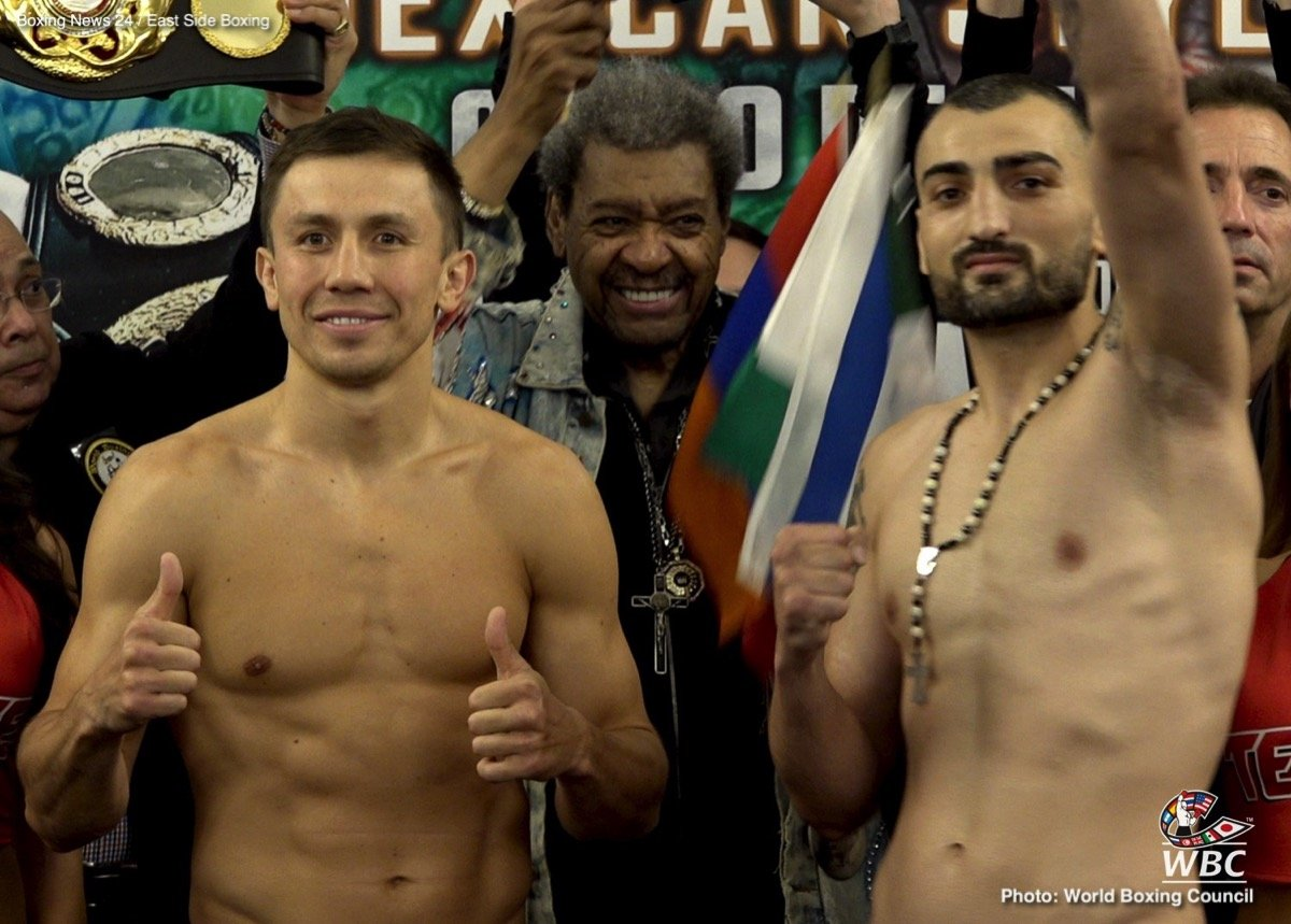 Gennady Golovkin, Vanes Martirosyan - Middleweight champion Gennady Golovkin looks to defend his championship for a record-tying 20th consecutive time against Vanes Martirosyan in a 12-round bout.