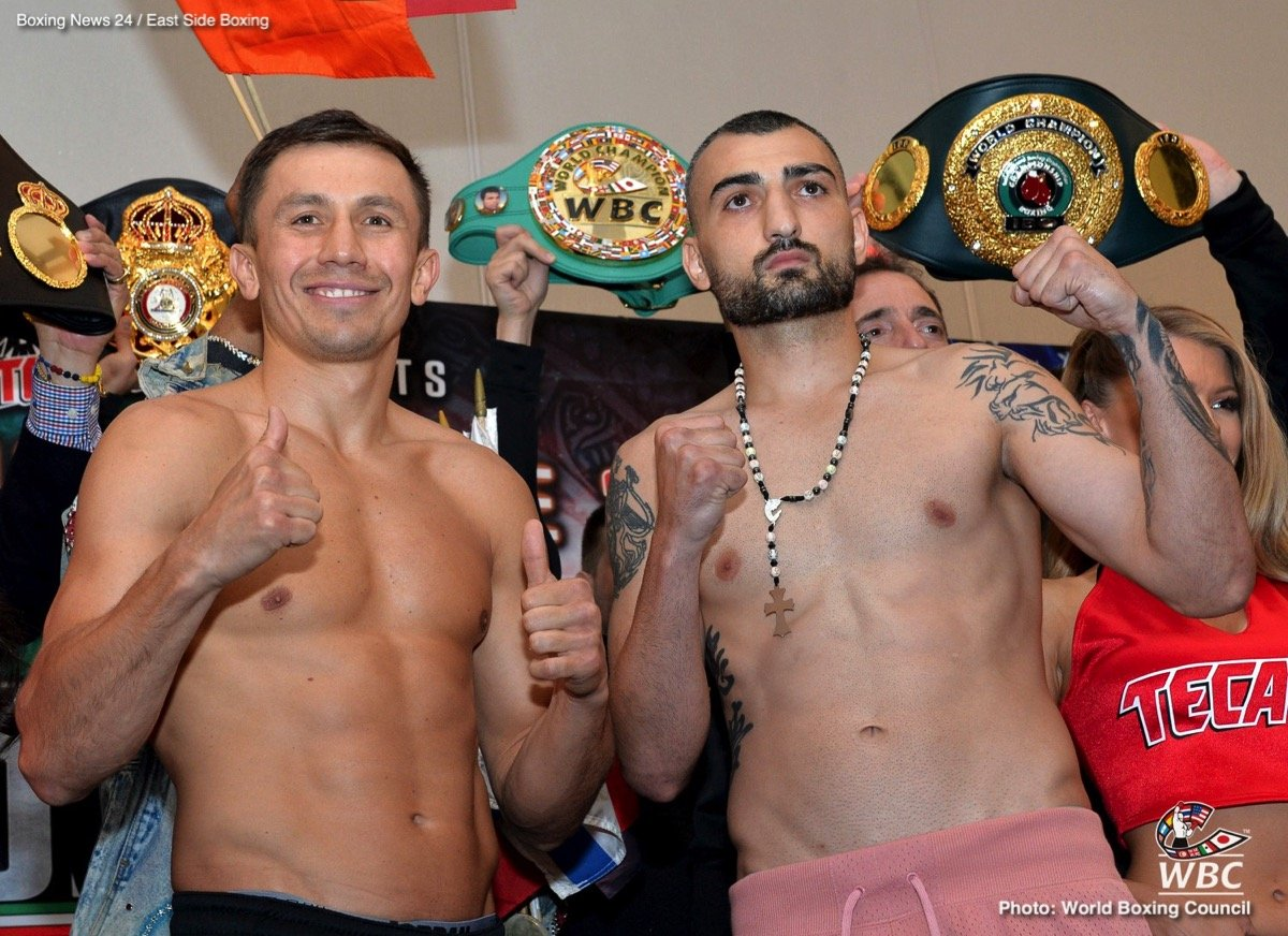 Middleweight king Gennady Golovkin is fighting Vanes Martirosyan tomorrow night in Carson, California – but almost everyone is still asking GGG about another fight. Those people fortunate enough to be able to talk with the undefeated pound-for-pound entrant have one name on their minds: Canelo Alvarez.