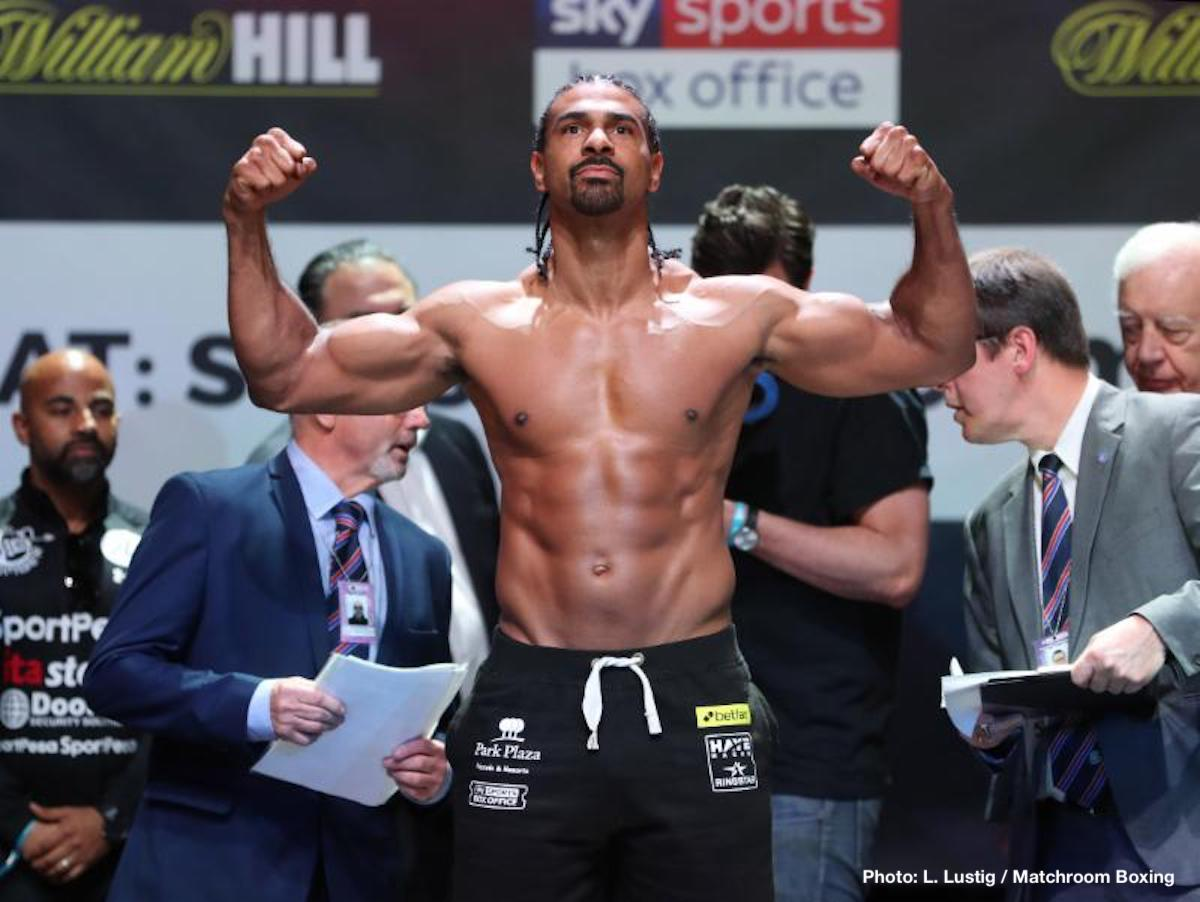 David Haye Tony Bellew Boxing News British Boxing Top Stories Boxing