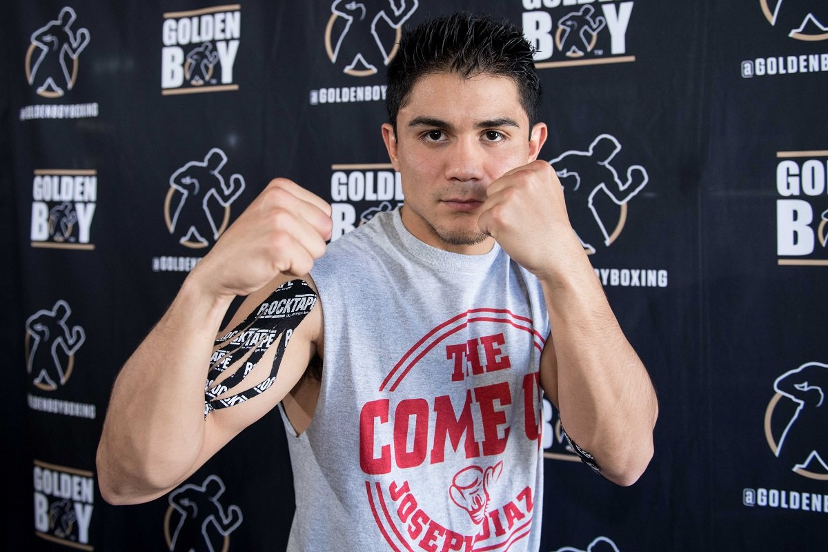 "Gary Russell Jr., Joseph ""Jojo"" Diaz Jr. - Featherweight world champion Gary Russell Jr. and undefeated mandatory challenger Joseph ""JoJo"" Diaz Jr. met members of the media on opposite coasts on Thursday, just one week out of their WBC world title showdown on Saturday, May 19, from MGM National Harbor in Maryland."