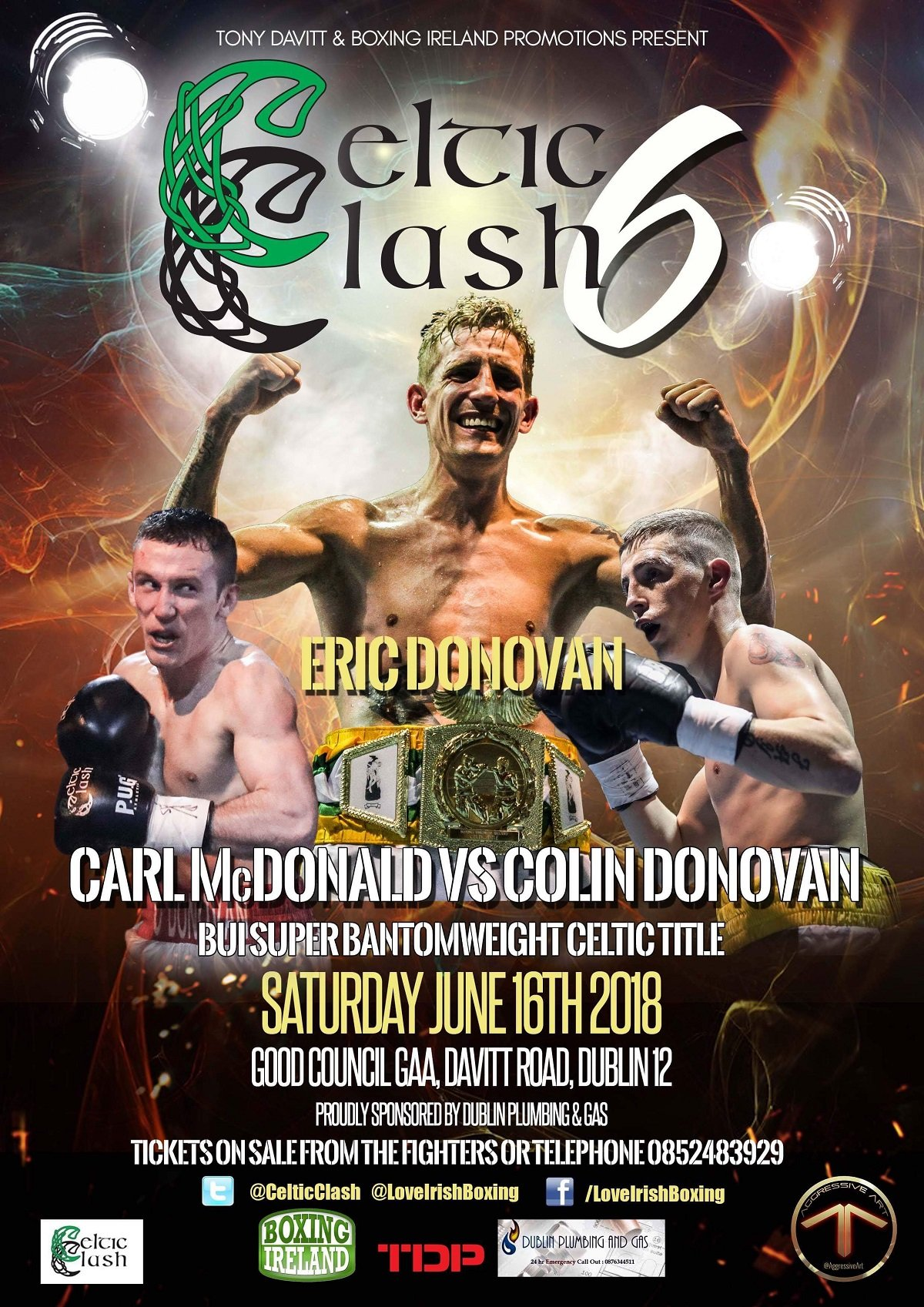- The popular Celtic Clash series will return to Dublin next month for a sixth show in under 13 months. The Boxing Ireland Promotions and Tony Davitt Promotions venture will take over the Good Counsel GAA Club once again on Saturday June 16th for 'Celtic Clash 6'.