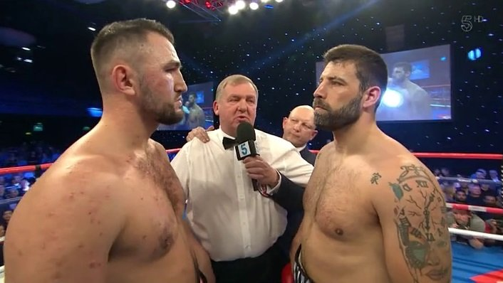 Hughie Fury - Hughie Fury (21-1, 11 KOs) captured the British heavyweight title on Saturday night in beating Sam Sexton (24-4, 11 KOs) in the 5th round after knocking him down 2 times at the Bolton Whites Hotel in Bolton, UK.